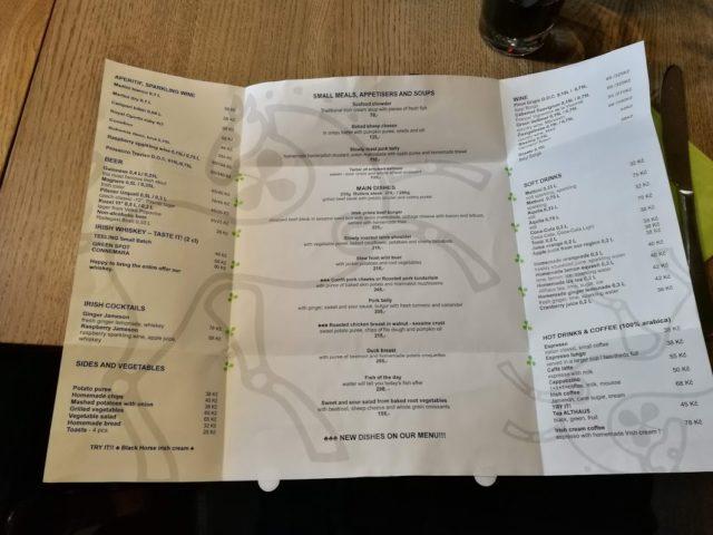 black horse menu open